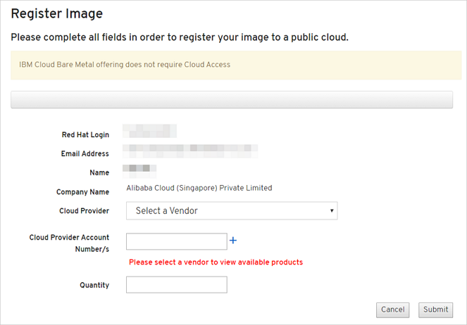 1. 注册Red Hat云接入计划_Red Hat云接入计划_Red Hat云接入和Windows许可证