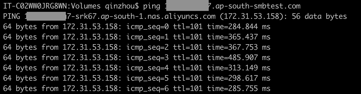 MacOS客户端连接阿里云NAS SMB文件系统-阿里云